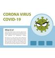 corona virus infographic vector image