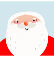 Cute cartoon smiling Santa face for Xmas greeting vector image