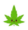 cute funny smiling happy marijuana vector image vector image