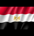 egypt realistic flag vector image