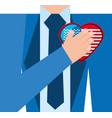 elegant man with american patriotic love vector image