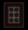 ethnic carpet dark border and beige mid vector image vector image