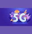 flat design 5th generation internet 5g network vector image vector image