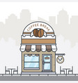 flat style coffee shop building vector image vector image