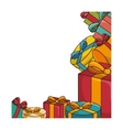 gifts boxes colorful vector image