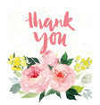 Greeting card flowers Watercolor vector image