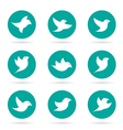 group bird in circle vector image vector image