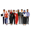 groupe arab man and woman vector image vector image