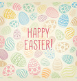 happy easter greeting card easter holiday egg vector image vector image
