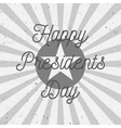 Happy Presidents Day Text on USA Flag vector image vector image