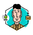 head manager in a flat style icon isolated vector image vector image