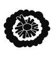 health broccoli icon simple style vector image