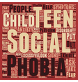 How to Identify Social Anxiety in Teens text vector image vector image
