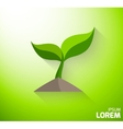 Icon of a green sprout vector image