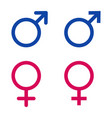 icons with male and female signs vector image