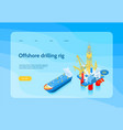 isometric oil industry concept banner vector image vector image