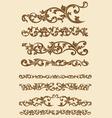 Javanese Vintage Floral Ornament Set vector image vector image
