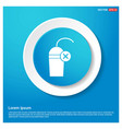 juice icon cocktail drink icon abstract blue web vector image