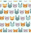 kids seamless pattern with heads of smiling vector image