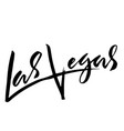 las vegas usa typography dry brush lettering vector image