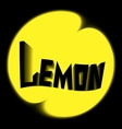 lemon logo black background vector image vector image