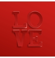Love Hand drawn typeface vector image