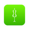 mannequin icon digital green vector image