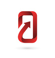 Mobile phone app logo icon design template vector image vector image