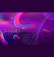 modern colorful flow poster wave liquid shape on vector image vector image
