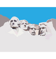 Mount Rushmore national memorial vector image vector image