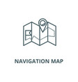 navigation map line icon linear concept vector image vector image