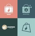 Online shopping bag logo icon vector image