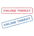 Online threat textile stamps