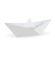 Origami paper ship isolated on white background vector image vector image