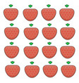 pattern of ripe strawberries on a white background vector image vector image