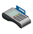 payment machine pos banking terminal for vector image vector image