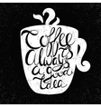 Quote in the cupCoffee is always a good idea vector image