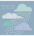 Rainy autumnal pattern with clouds vector image vector image