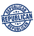 republican blue round grunge stamp vector image vector image