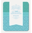 Retro Blue Elegant Invitation Design vector image vector image