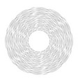 round frame of pencil strokes and stripes vector image vector image