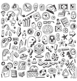 Science thinking - doodles set vector image vector image