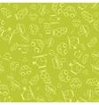 seamless pattern with cartoon batransport vector image