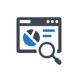 search analysis icon vector image vector image