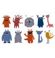 set funny funky monsters vector image