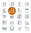 Set of outline icons for lifestyle vector image vector image