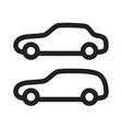 set of silhouettes of cars vector image vector image