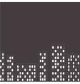 silhouette night city dash line flat design vector image