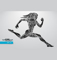 silhouette of a running female vector image