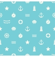 Simple seamless pattern with flat sea elements vector image vector image